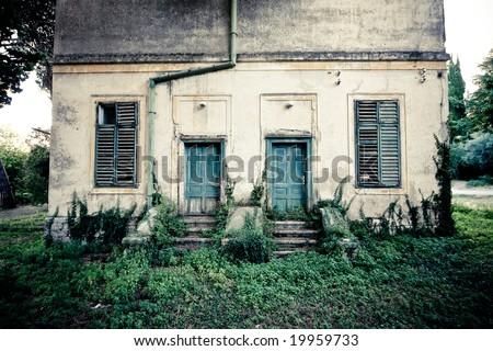 old spooky house in croatia - stock photo
