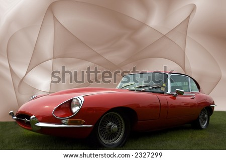 Old sports car - stock photo