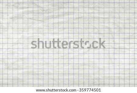 Old squared paper sheet, seamless background photo texture - stock photo