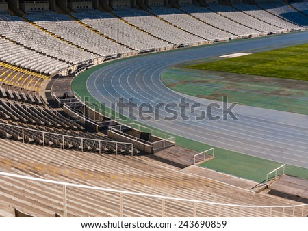 Old stadium in Barcelona,Spain - stock photo