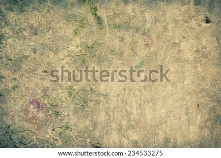 Old stained and ruined wall texture - stock photo