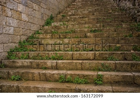 Old stair outdoors