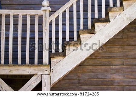 old stairs, western texture - stock photo