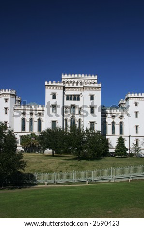 Old State Capitol Building in Baton Rouge Louisiana South View