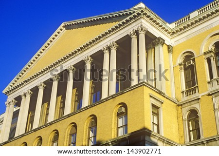 Old State House, Beacon Hill, Boston, Massachusetts - stock photo