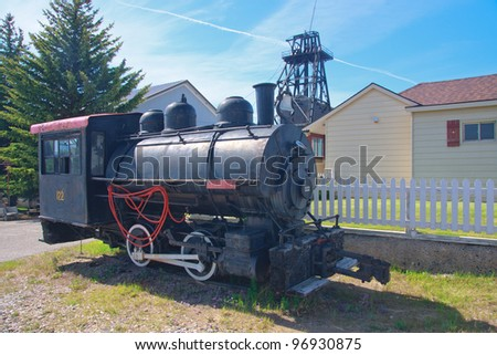 Old steam train at the World Museum Of Mining, Butte, Montana