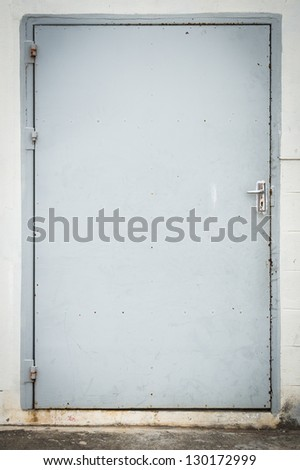 old steel door - stock photo