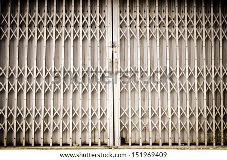 old steel door - stock photo