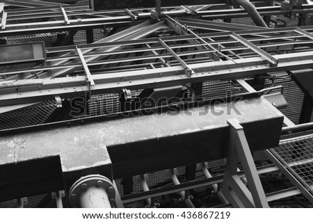 old steel mill - stock photo