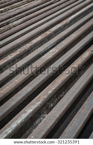 Old steel of railroad