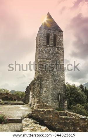 old steeple - stock photo