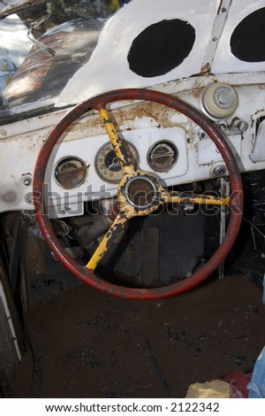 old steering wheel of a beatle