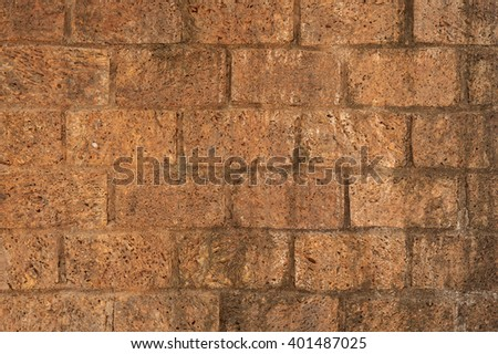 Old stone  brick wall for background - stock photo