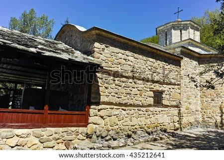 Old stone Church in Temski monastery St. George, Pirot Region, Republic of Serbia - stock photo