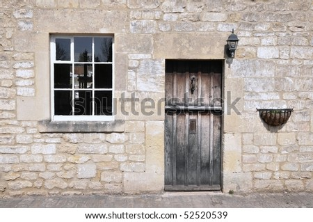 Old Stone Cottage - stock photo