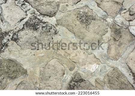 Old Stone Floor. Background and Texture for text or image - stock photo