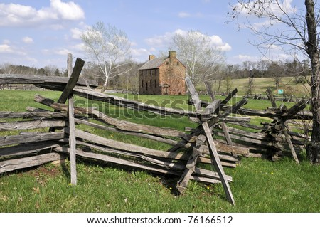 Old Stone House, Manassas Battlefield, Manassas, VA Horizontal - stock photo