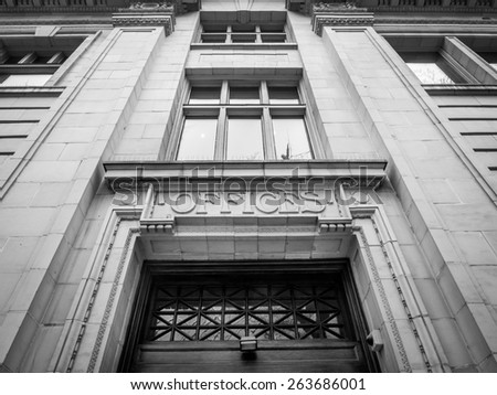 Old stone office building in Calgary alberta.  - stock photo