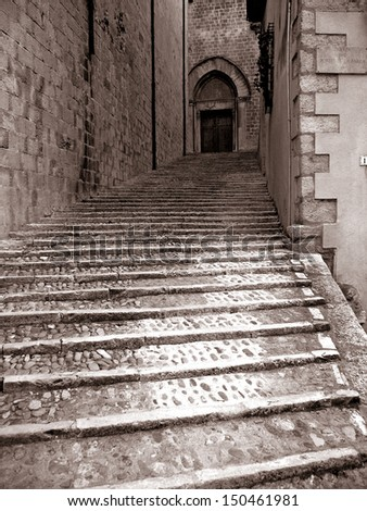 old stone stairs
