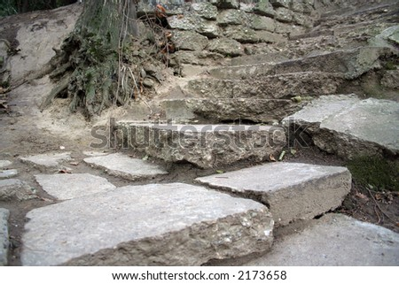 Old stone steps - stock photo