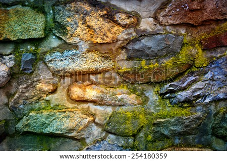 Old stone wall - abstract background - stock photo