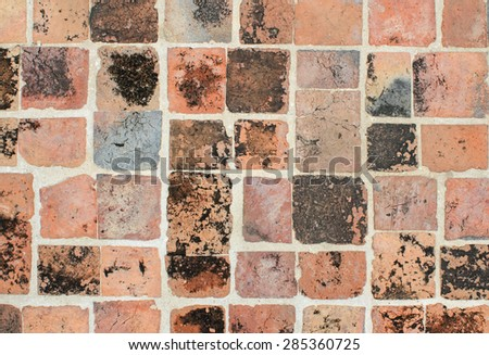 Old stone wall and floor of the background - stock photo