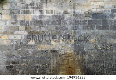 Old stone wall, background - stock photo