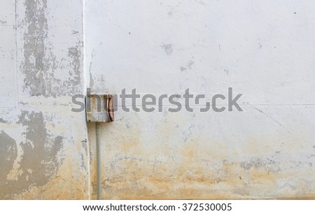 Old stone walls with old metal box for texture background