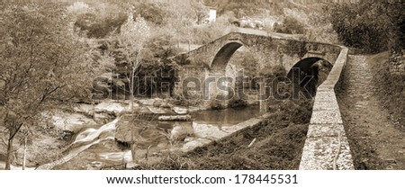 old stones bridge over the river