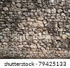 Old stonewall of medieval castle. - stock photo