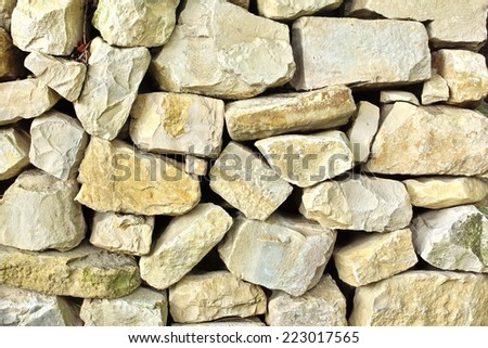 Old Stonework Wall. Background and Texture for text or image - stock photo