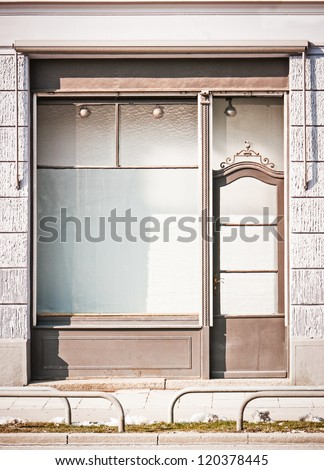 old store in berlin - nice facade - stock photo