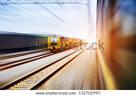 old stream train - stock photo