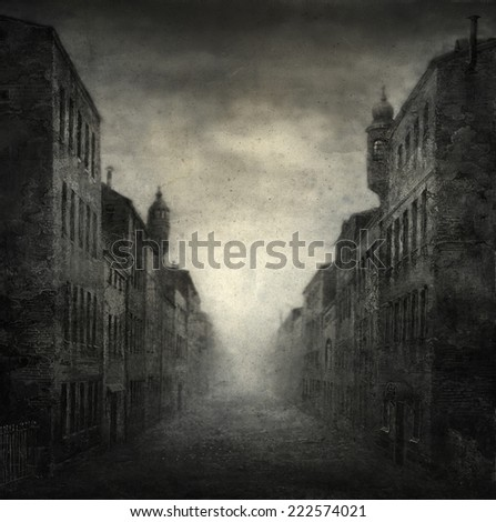 Old street - stock photo