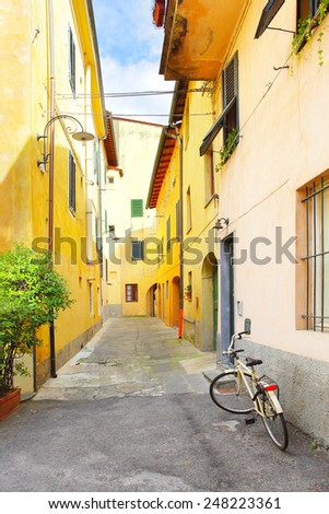 Old street in Italy - stock photo