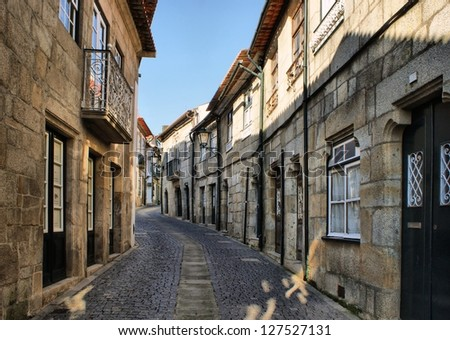 Old street in Vila do Conde, Portugal