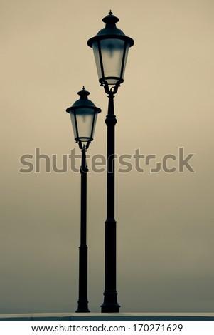 old street-lamp - stock photo