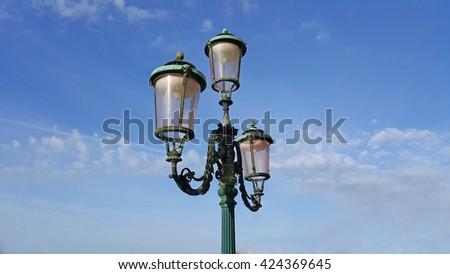 Old street lamp - stock photo