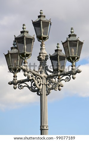 old street lamp, St. Petersburg - stock photo