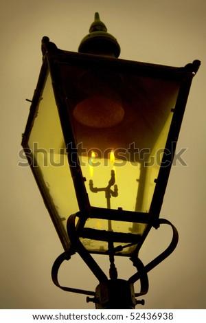 Old street light - stock photo