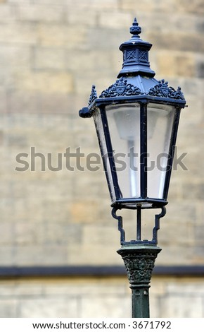 Old streetlight in the historical part of Prague (Czech Republic)