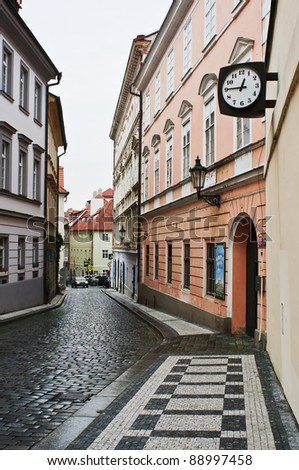 Old Streets of Prague - stock photo