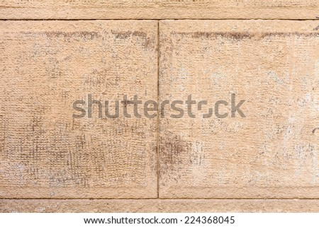 Old stucco architecture fasade element - stock photo