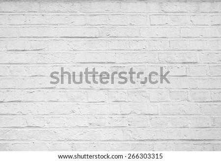 Old stucco white brick wall background - stock photo