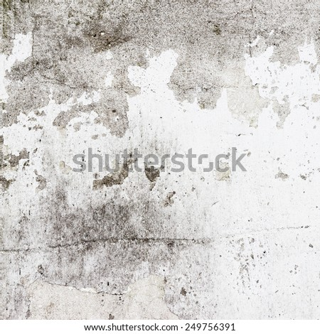 Old stucco white wall background or texture - stock photo