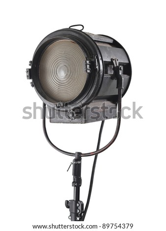 Old studio light on movie.with path - stock photo