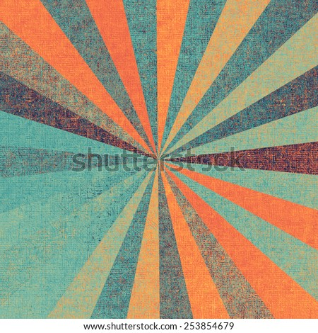 Old-style background, aging texture. With different color patterns: blue; cyan; red (orange); purple (violet) - stock photo