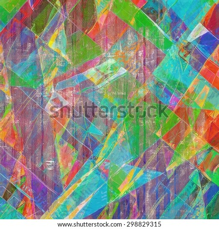 Old-style background, aging texture. With different color patterns: yellow (beige); green; blue; purple (violet); red (orange)