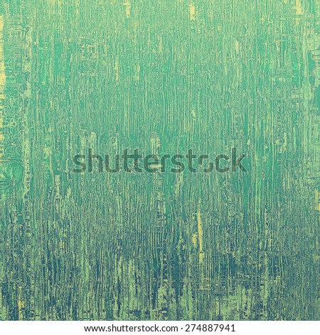 Old-style background, aging texture. With different color patterns: yellow (beige); green; cyan - stock photo