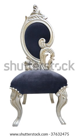 old style chair isolated - stock photo